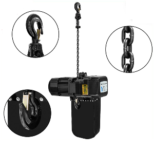New Model Dual Limit Switch Electric Monorail Chain Lift Hoist with Safety Clutch and Inverter