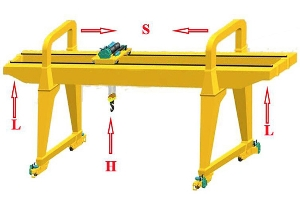 Heavy Duty Double Girder Overhead Travelling Construction and Harbor Freight Gantry Crane