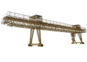 Outdoors Rail Mounted Long Traveling Double Girder Container Gantry Crane with Trolley
