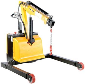 Electric Powered Small Lift Counter Balance Hydraulic Floor Crane, Electric Floor Cranes