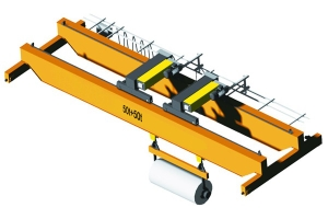 Electric Hoist Driven 10t Double Girder Overhead Crane for Ladle Transmitting in Foundry Shop for Sale