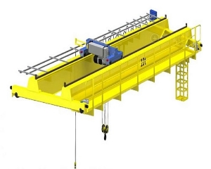 2 Ton Travelling Indoor Warehouse Used Double Girder Bridge Travelling Overhead Crane A5 Work Class