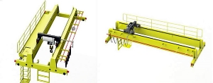 European Style Double Girder Double Beam Top Running Bridge Crane with Sew Driving System