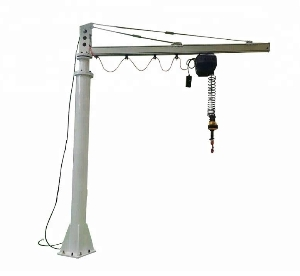 Customized 360 Degree Foundation Mounted Free Standing Portable Articulating Swivel Jib Crane with Hoist Lift