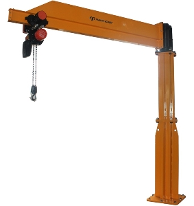 High Quality Construction Free Standing Pillar Column Sleeve Mounted Slewing Stationary Electric Motorized Jib Crane