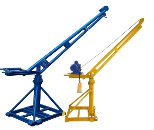 360 Degrees Rotation Indoor Outdoor Mini Lifting 1ton Engine Hoist Crane with Diesel Engine for Construction
