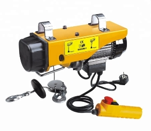 Single Phase Micro PA Wire Rope Mini Electric Hoist, with 110 V Motor and Remote Control for Garage Auto Shop