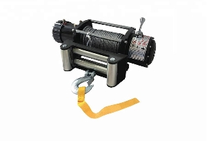 9500lbs 4X4 4WD electric rope cable puller winch heavy duty 4WD off road jeep winch with high performance motor