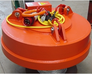 Rechargeable Circular Round Iron Bar DC Lifting Scrap Magnets