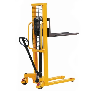 High Effiency 1.5 Ton Hand Forklift Stacker Self Loading Pallet Stacker