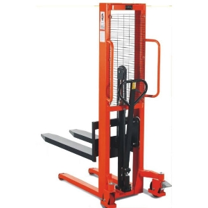 1ton Hydraulic Hand Manual Pallet Stacker with Single Mast
