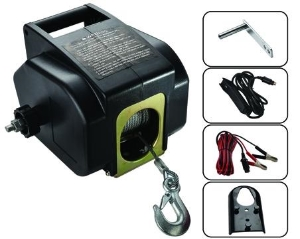 DC 12V 3500lbs Marine Yacht Boat Electric Sailing Tractor Winch