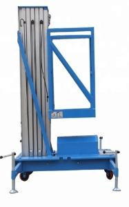 Aluminum alloy elevator hydraulic lifting platform electric moving single column double column small aerial work vehicle