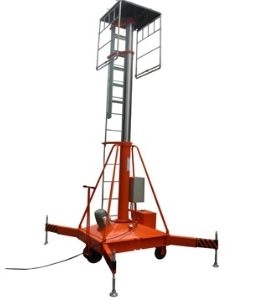 150KG/25M lift height single ladder stop hydraulic telescopic cylinder aerial one man lift