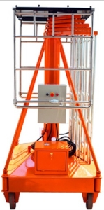 Mobile hydraulic telescopic cylinder tiltable electric lift platform /high level aerial one man lift ladder