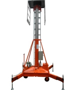 30M high rise aerial working tiltable telescopic cylinder lift platform