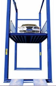Hydraulic lead rail vertical warehouse mechanical cargo lift platform with CE