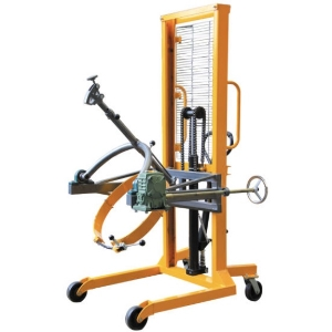 350KG Manual Non-reversible Hydraulic Hand Lift Oil Drum Pallet Stacker