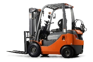 Double front tyres 2 ton small electric forklift with triplex mast 6m lifting height