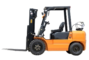4500kg Load capacity double fuel gas/petrol Forklift with 2 stage mast,lift height 3m