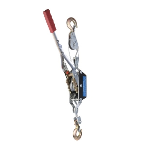 2T wire rope manual hand puller with single gear and two hooks manual hand winch