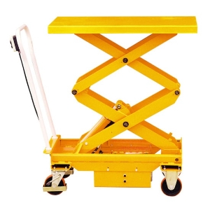 Mobile Manual Hydraulic Scissor Lift Table Cart With Wheels