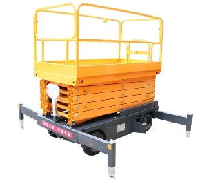 Small Aerial Mobile Scissor Lift /self-driven aerial working platforms /hydraulic scissor lifts