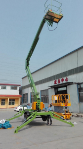 Technical details of 20m Diesel operated trailing/towable boom lift