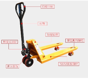 Pump hydraulic jack manual forklift and hand pallet truck for sale