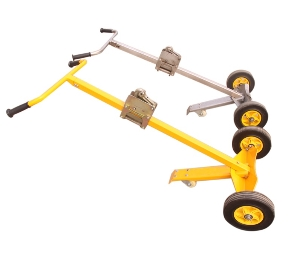 450kg Hand move pallet truck manual drum Carrier lifter oil drum trolley