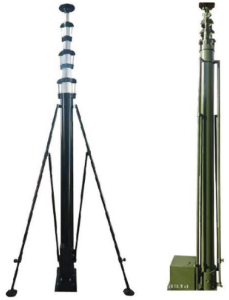 Technical details of 30m motorized telescopic mast