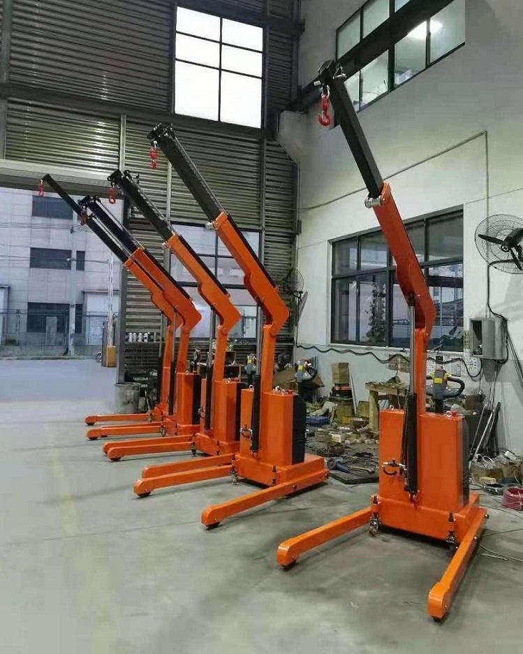 Site photos of 1t Fully Electric Floor Crane (Foldable Shop Crane)2.jpg